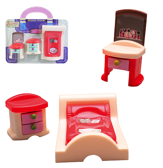 KIT MOVEIS INFANTIL COM CAMA COLORS E ACESSORIOS MY SWEET HOME 3 PECAS