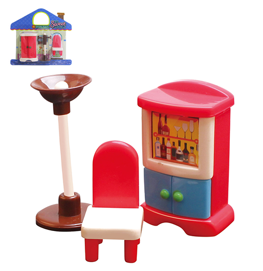 KIT MOVEIS INFANTIL COM ESTANTE COLORS E ACESSORIOS MY SWEET HOME 3 PECAS NA CARTELA