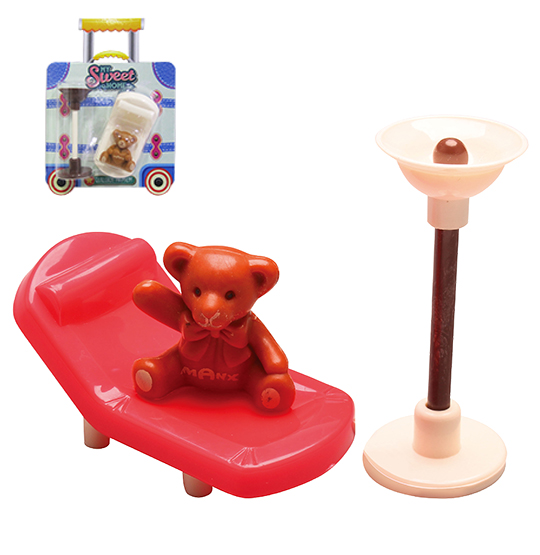 KIT MOVEIS INFANTIL COM POLTRONA COLORS E ACESSORIOS MY SWEET HOME 3 PECAS NA CARTELA