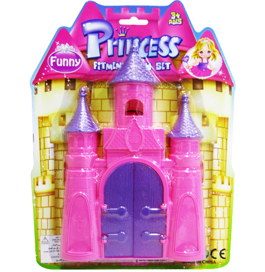 CASA / CASINHA CASTELO PRINCESS FITMENT PLAY SET NA CARTELA