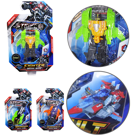 ROBO TRANSFORME SORTIDOS STRIKER SUPER HERO