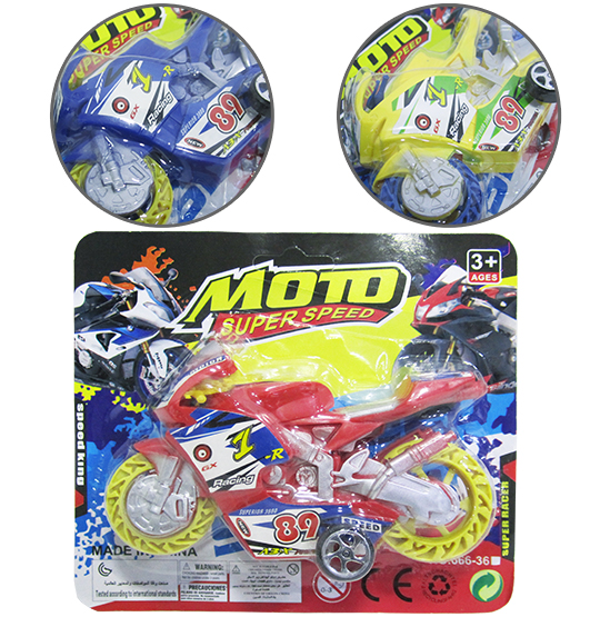 MOTO A FRICCAO PULL BACK SUPER SPEED RACING COLORS NA CARTELA