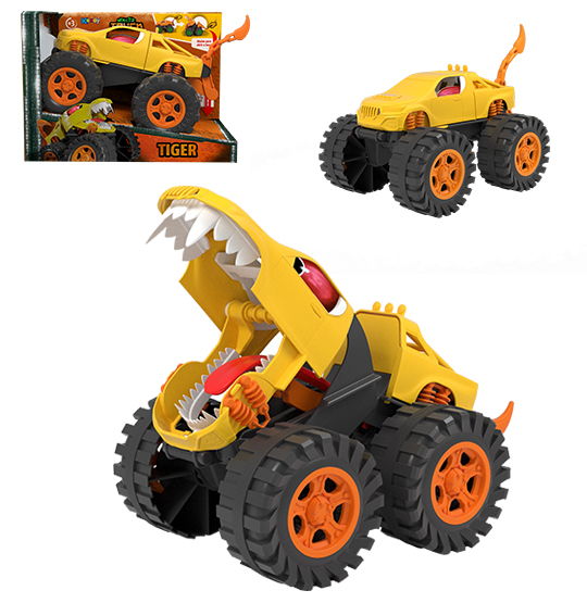 CARRO MONSTER TRUCK TIGER RODA LIVRE