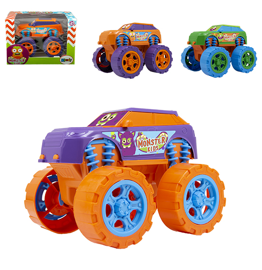 CARRO MONSTER KIDS RODA LIVRE COLORS NA CAIXA