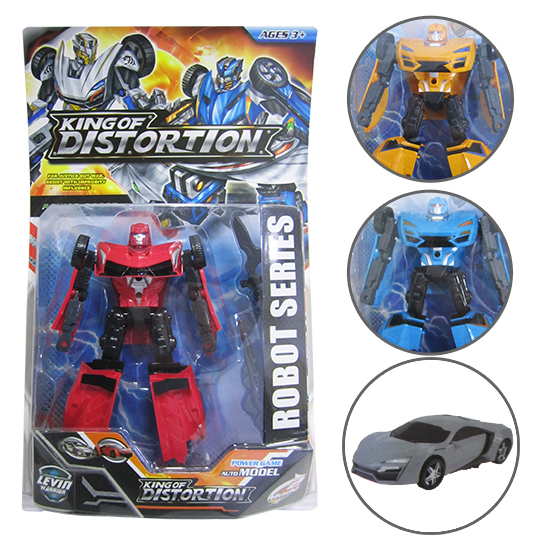 ROBO TRANSFORME CARRO KING OF DIST. ORTION POWER ROBOT COLORS
