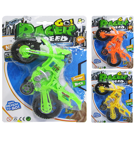 MOTO A FRICCAO GO RACER SPEED SUPER POWER COLORS NA CARTELA
