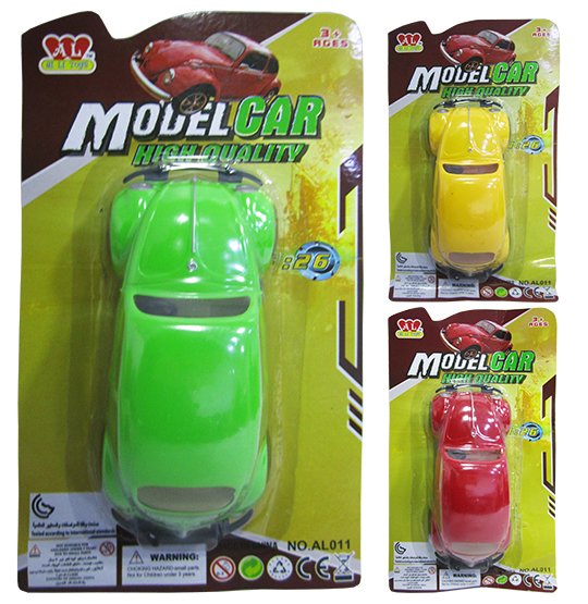 CARRO FUSCA A CORDA MODEL CAR HIGH QUALITY COLORS NA CARTELA