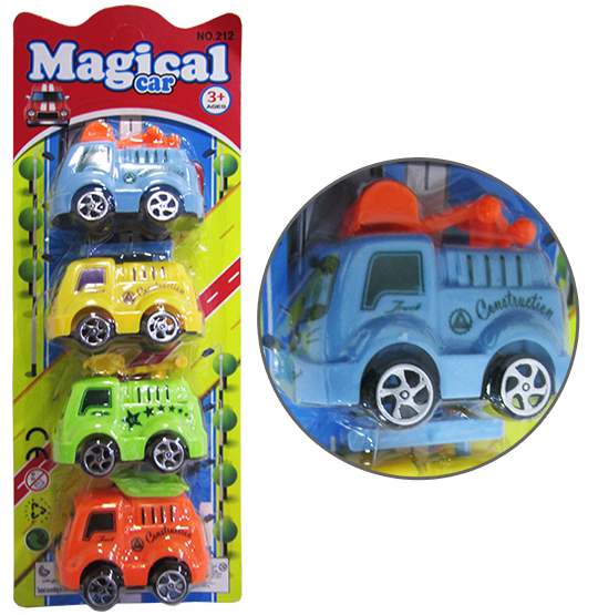 CAMINHAO CONSTRUCAO A FRICCAO MINI MAGICAL CAR COLORS KIT COM 4 PECAS
