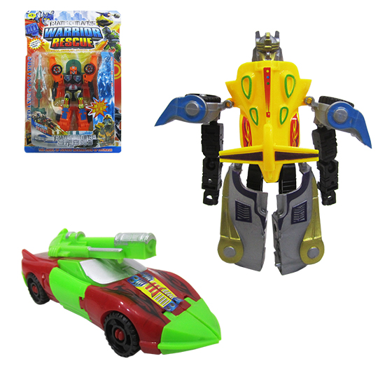 ROBO TRANSFORME CARRO WARRIOR COM ACESSORIO NA CARTELA