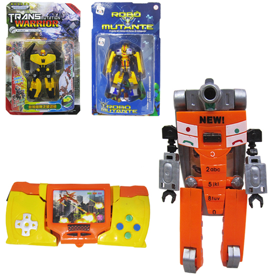 ROBO TRANSFORME TRANSMUTATION WARRIOR SORTIDOS COLORS NA CARTELA
