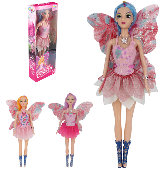 BONECA FADA BETTY COLORS ARTICULADA NA CAIXA WELLKIDS