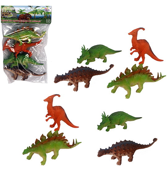 KIT ANIMAL DINOSSAURO DE PVC ANIMAIS INCRIVEIS DINO 4 PECAS NA SOLAPA WELLKIDS