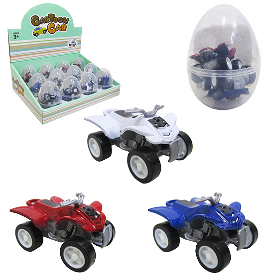 QUADRICICLO RODA LIVRE CARTOON CAR COLORS COM 2 UNIDADES 4,5CM NA CAPSULA