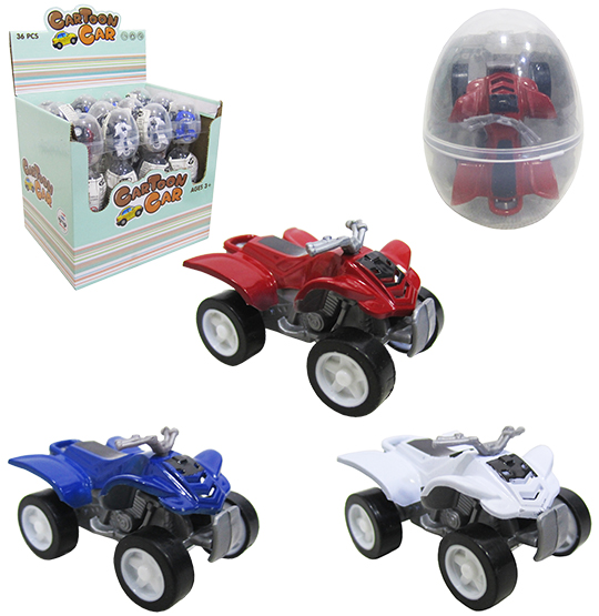 QUADRICICLO RODA LIVRE CARTOON CAR COLORS 4,5CM NA CAPSULA
