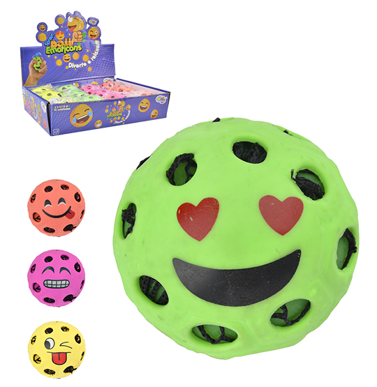 BOLA SPREM BALL EMOTICONS COLORS 6CM DE Ø WELLKIDS