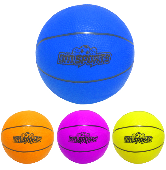 BOLA DE BASQUETE DE BORRACHA DM SPORTS COLORS 22CM DE Ø 200G