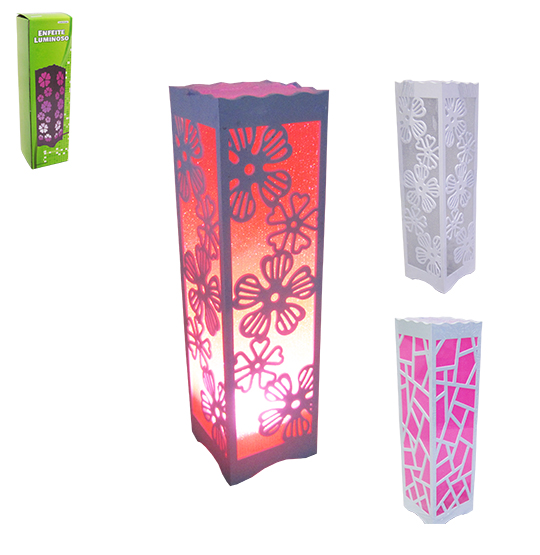 ABAJUR / LUMINARIA DE LED DECORATIVA VAZADA COLORS 33X9CM BIVOLT