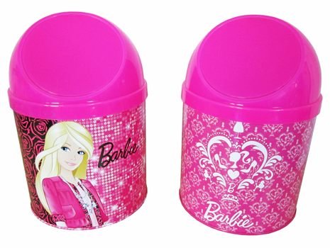 LIXEIRA DE MESA BARBIE 147X213MM
