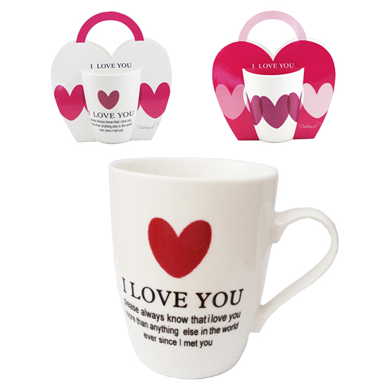 CANECA DE PORCELANA I LOVE YOU 350ML
