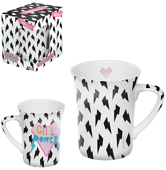 CANECA DE PORCELANA MUDDY GIRL POWER 320ML NA CAIXA