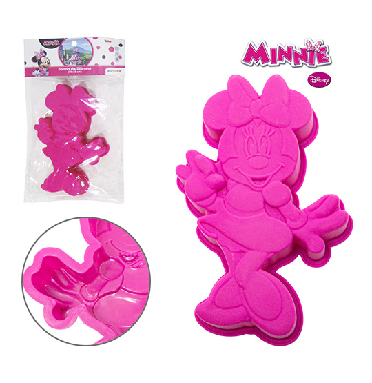 FORMA DE SILICONE PARA MINI BOLO MINNIE 230ML 18X12X3CM