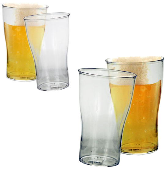 COPO DE PLASTICO PS PARA CHOPP TRANSPARENTE 400ML