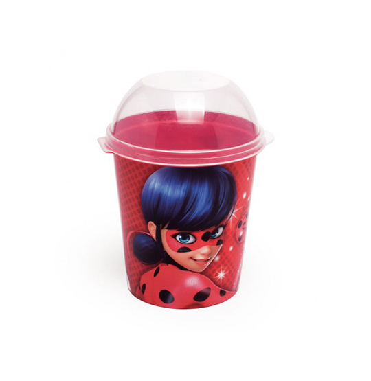 PORTA MIX PIPOCA ALTO 600ML MIRACULOUS
