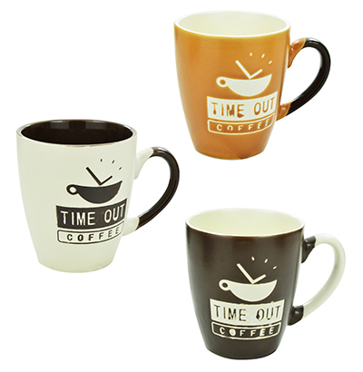 CANECA DE PORCELANA/CERAMICA COFFEE/TIME OUT 200ML SORTIDAS