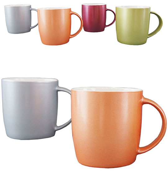 CANECA DE PORCELANA PEROLIZADA COLORS 320ML