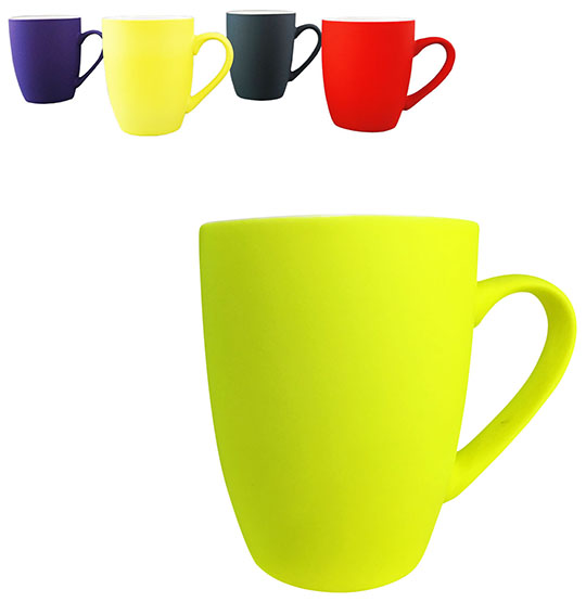 CANECA DE PORCELANA FOSCA COLORS 340ML