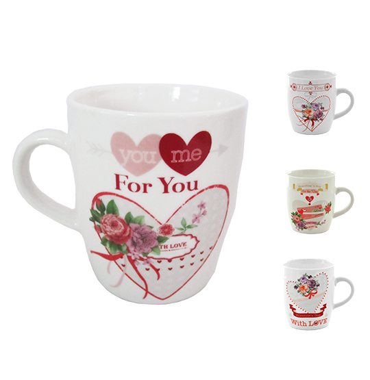CANECA DE PORCELANA LOVE 240ML ESTAMPA SORTIDAS