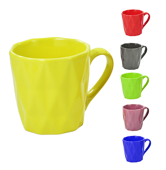 CANECA DE PORCELANA RELEVO COLORS 200ML