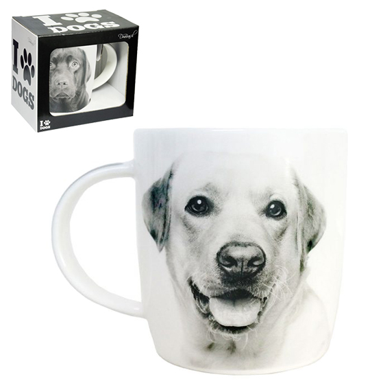CANECA DE PORCELANA I LOVE DOGS LABRADOR 320ML
