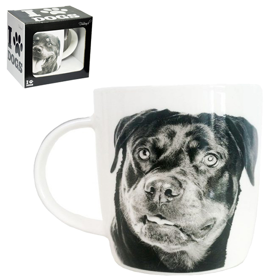 CANECA DE PORCELANA I LOVE DOGS ROTTWEILER 320ML