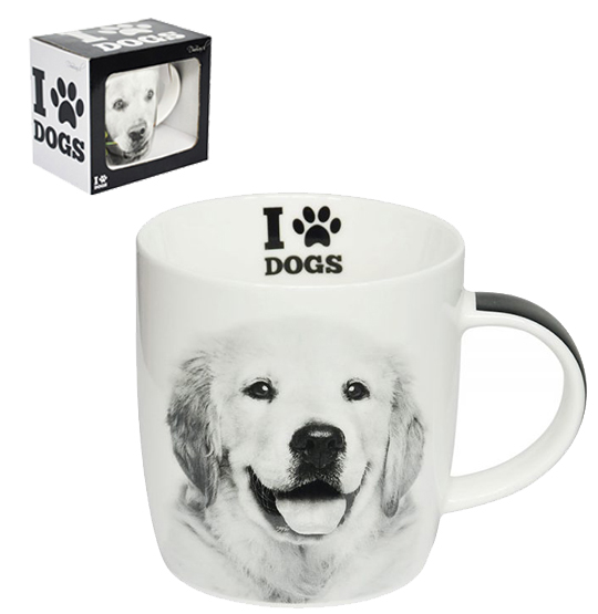 CANECA DE PORCELANA I LOVE DOGS GOLDEN RETRIEVER 320ML
