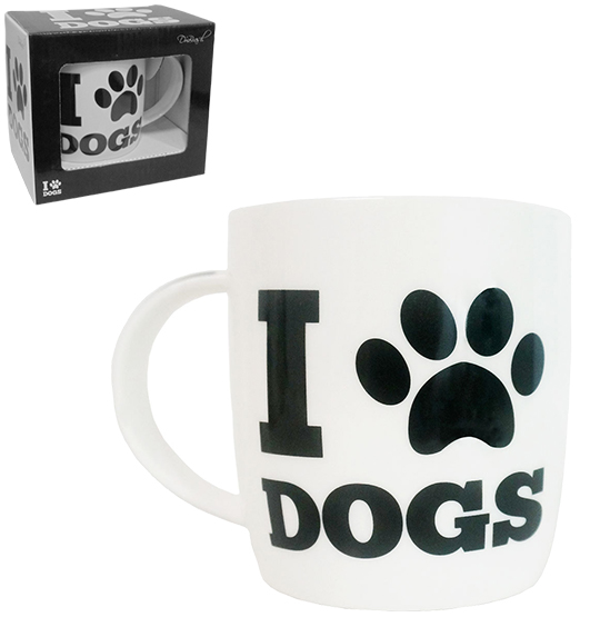 CANECA DE PORCELANA I LOVE DOGS 320ML