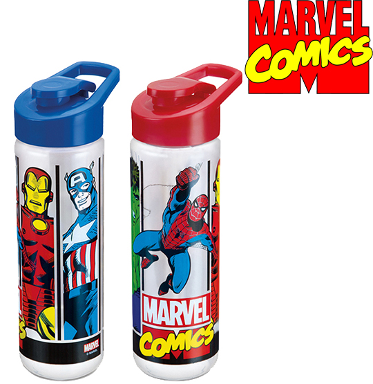 GARRAFA / SQUEEZE DE PLASTICO PET MARVEL COMICS SILK COM TAMPA SH COLORS 700ML