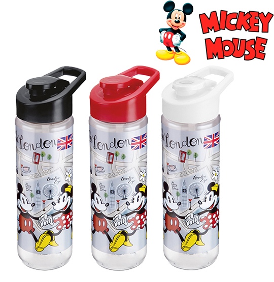 GARRAFA / SQUEEZE DE PLASTICO PET MICKEY / MINNIE SILK COM TAMPA SH COLORS 700ML