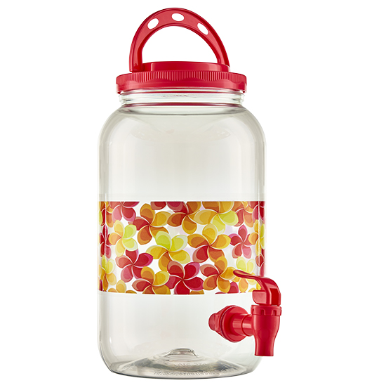 SUQUEIRA DE PLASTICO DECORADA CHERRY COM ALCA 3600ML