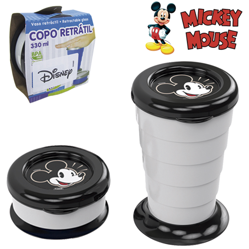 COPO DE PLASTICO RETRATIL MICKEY 330ML
