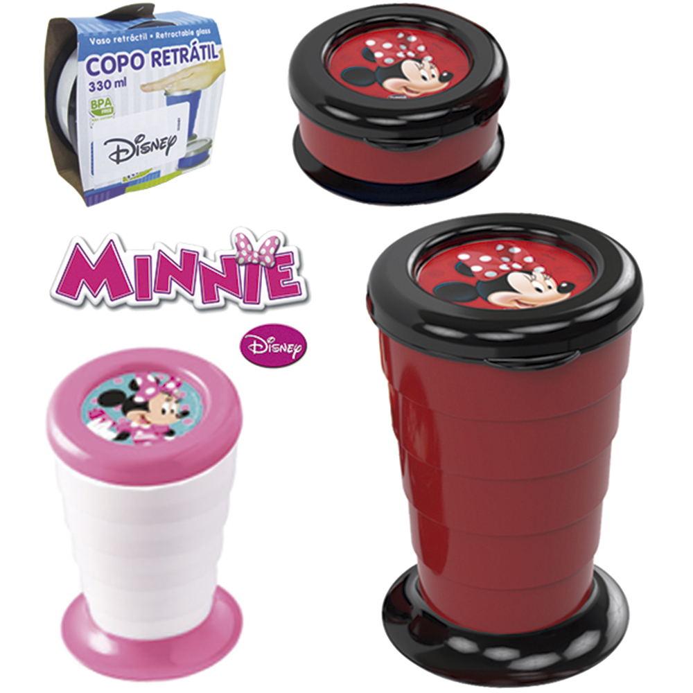 COPO DE PLASTICO RETRATIL MINNIE 330ML