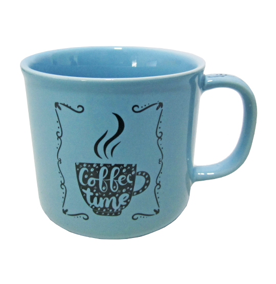 CANECA DE PORCELANA MASTER COFFEE BREAK / TIME AZUL 280ML