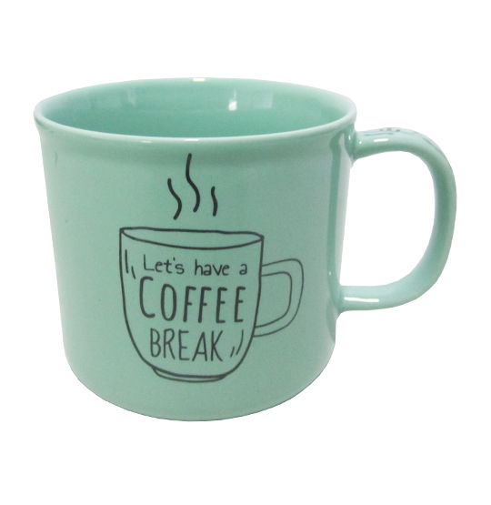 CANECA DE PORCELANA MASTER COFFEE BREAK / TIME VERDE 280ML