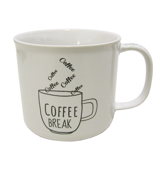 CANECA DE PORCELANA MASTER COFFEE BREAK / TIME BRANCA 280ML