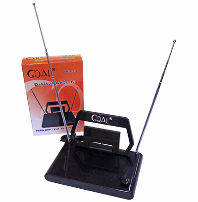 ANTENA INTERNA DIGITAL PARA TV UHF / VHF E FM A:23XL:13.5XC:21.5CM