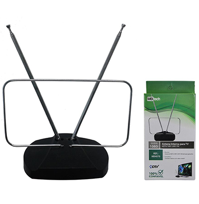 ANTENA INTERNA DIGITAL PARA TV HDTV / UHF / VHF / FM A:27XL:18.5CM