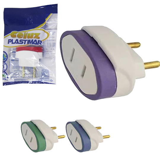 ADAPTADOR PINO CHATO 10A 250V FLOW PACK