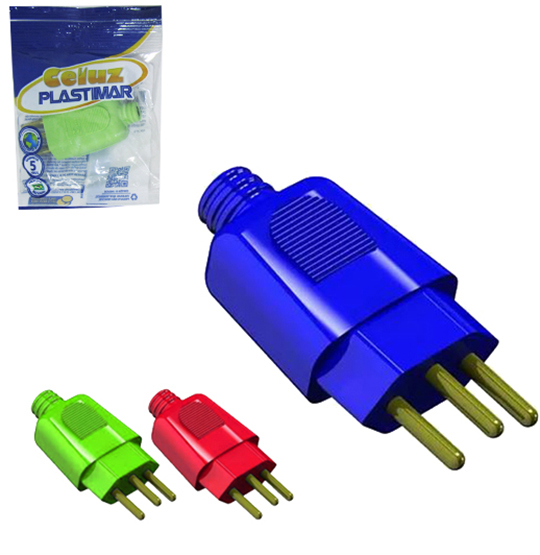 PLUG BIG COLORS 2P + T 10A 250V FLOW PACK