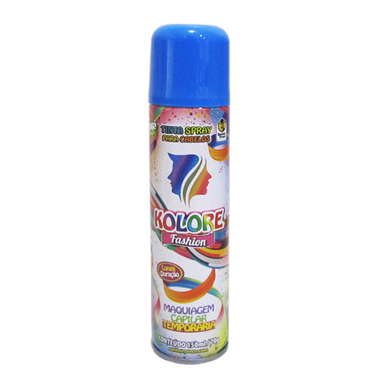 TINTA / PO SPRAY KOLORE FASHION AZUL 150ML / 70GR