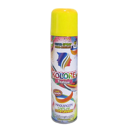 TINTA/PO SPRAY KOLORE FASHION AMARELO FLUORESCENTE 150ML